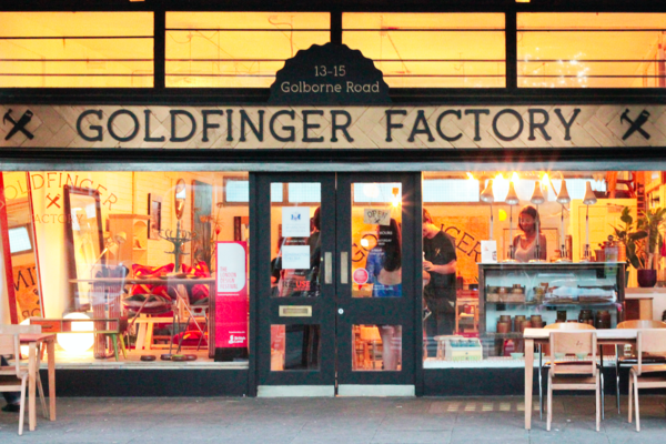 Goldfinger Factory Shopfront