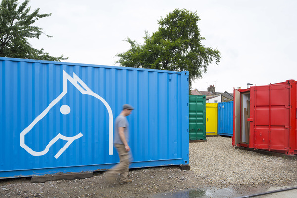 Containers with logo