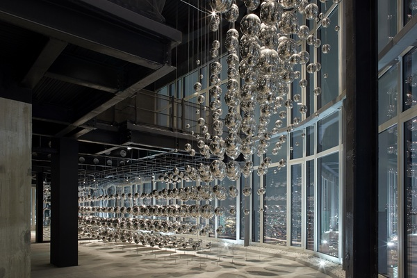 39th floor viewing gallery, with bespoke installation by Design Haus Liberty