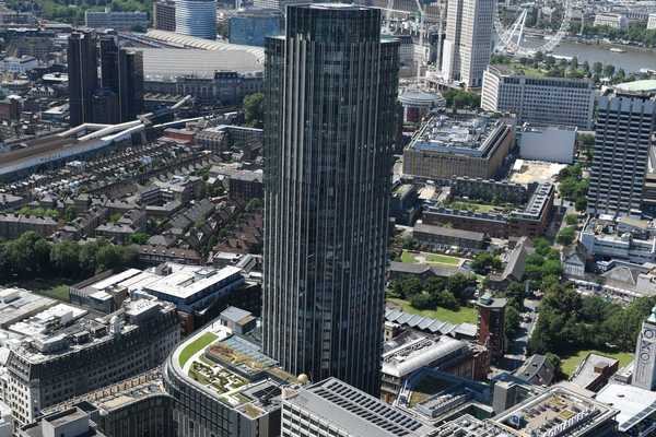 Aerial view of South Bank Tower