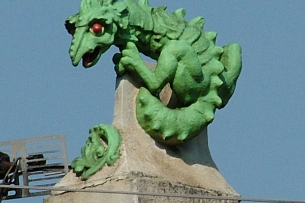 dragon roof finial