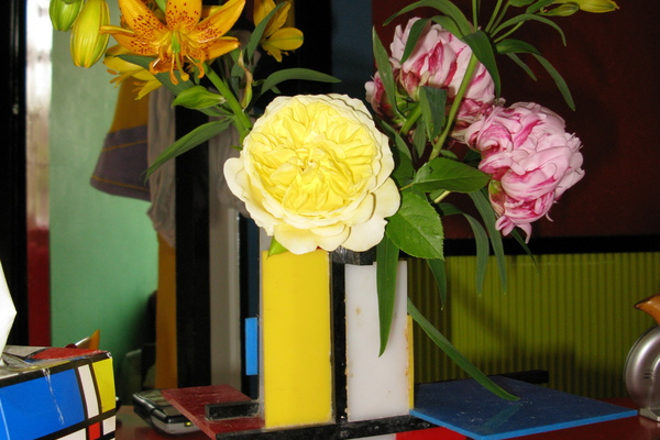 Mondriaan Kitchen - flower vase