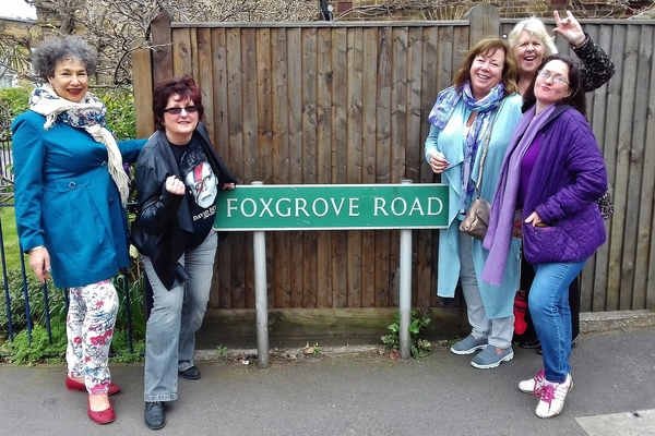 Foxgrove Road where Bowie first lived in Beckenham in 1969.