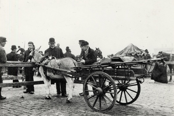 Metropolitan Cattle Market Trader with Donkey and Cart, Islington