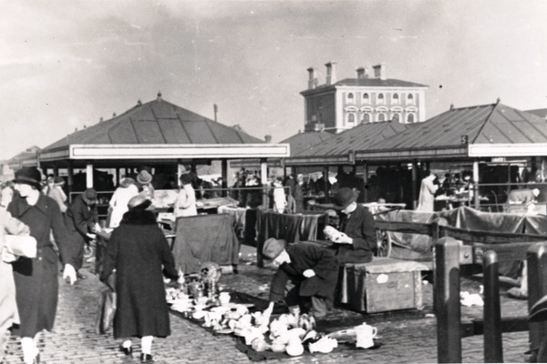 Second hand stalls at Caledonian Market, Islington