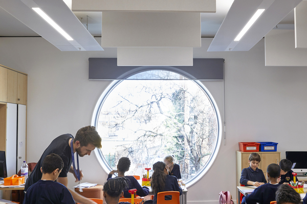 View inside typical classroom
