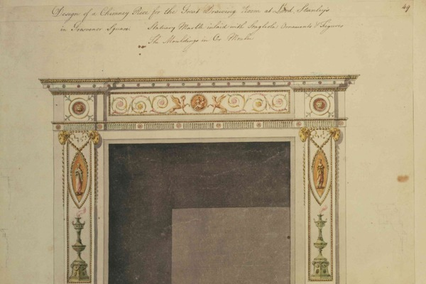 Drawing of Robert Adam Fireplace
