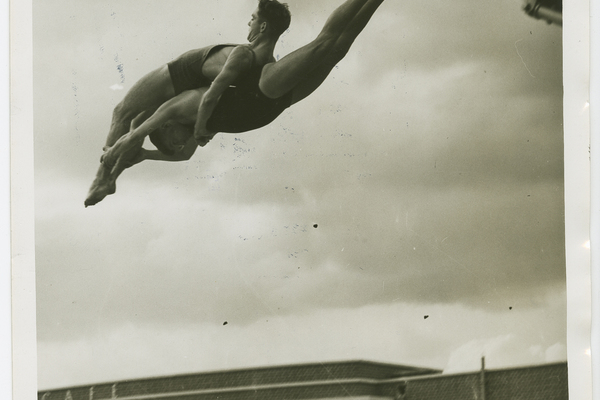 Daring Feats at the Parliament Hill Lido, circa 1940s