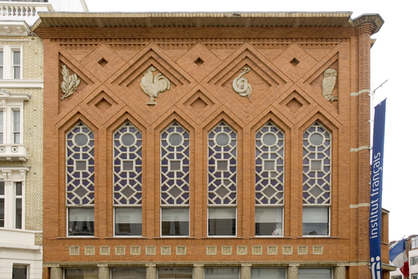 View of the Art deco facade from Queensberry Palce