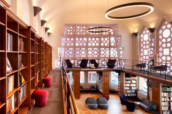 Former ballroom, now 'Reading Room Denis Saurat'