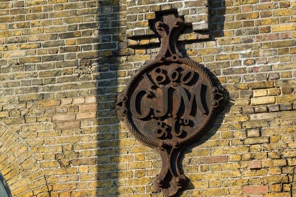 CJ Mare plaque - Westferry Road side