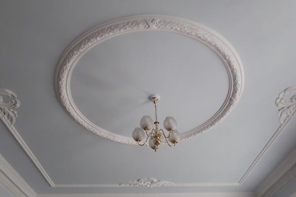 Shrewsbury House, plaster ceiling rose