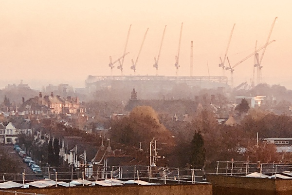 View from estate looking over to new Spurs stadium