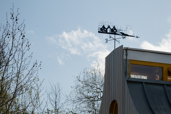 Windows and weather vane