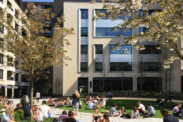 Central garden offers respite from the activity of central London