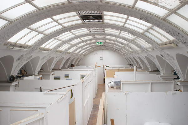 First floor studios and glass ceiling