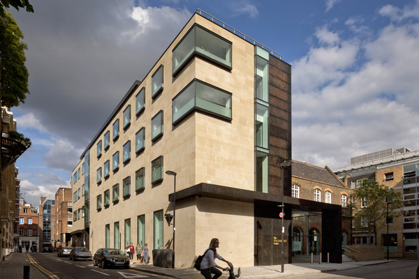 View of the Goldsmiths' Centre from Britton Street