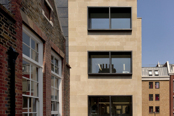 View of the Goldsmiths' Centre's modern extension