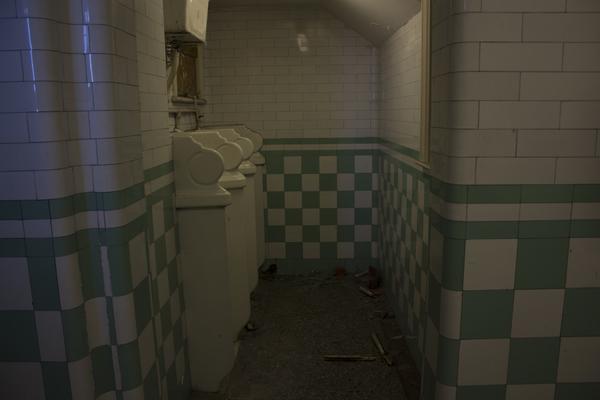 The original Edwardian toilets pre restoration