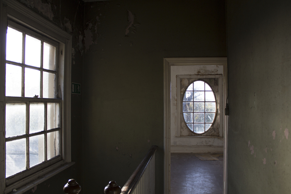 View from Librarian's staircase into old quarters
