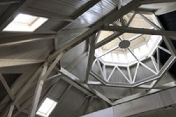 Interior of roof structure