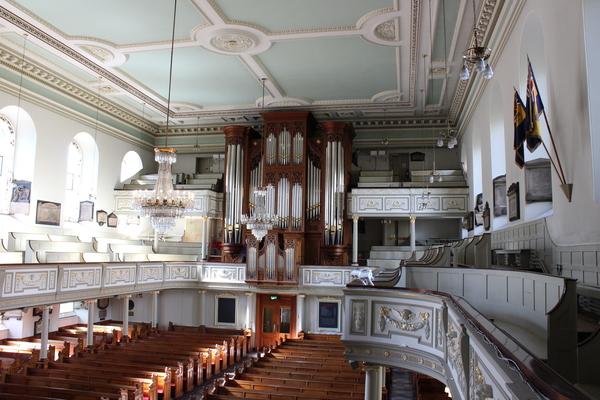 Interior and Rieger Organ