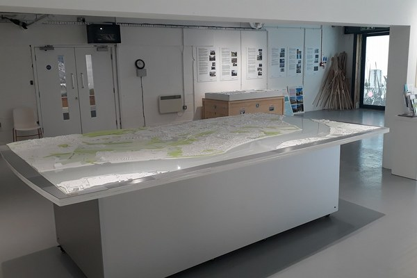 To scale model of Thamesmead