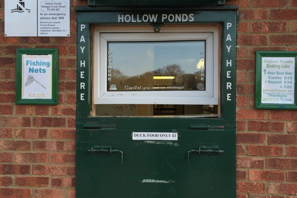 Boat hire at Hollow Pond