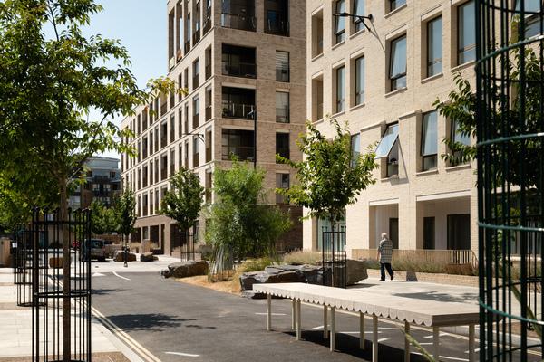 Street view of new blocks