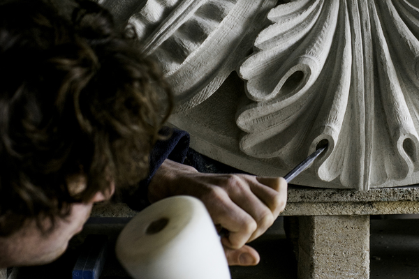 New carvings for Sir John Soane's Pitzhanger Manor.