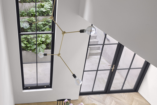 View over double height space