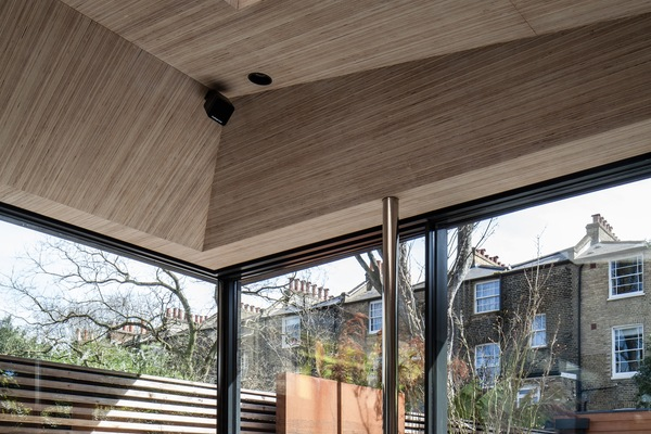 View of corner opening sliding doors