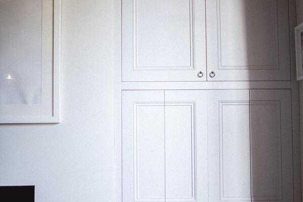 Living room hidden TV/AV unit detail