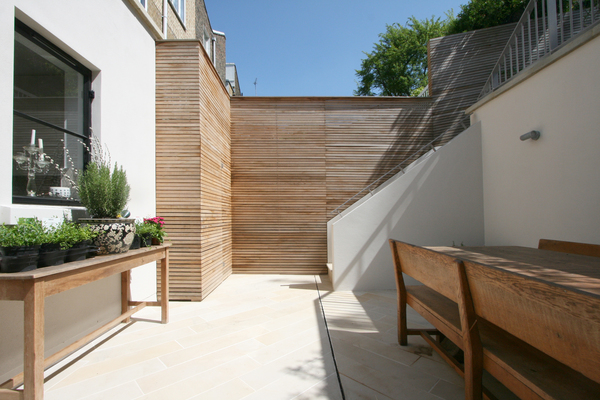 Lower patio dining area