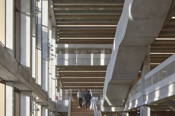 Atrium, view from ground floor - Town House, Kingston University