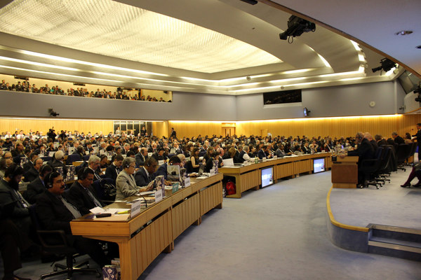 The IMO Assembly meeting in the Main Hall
