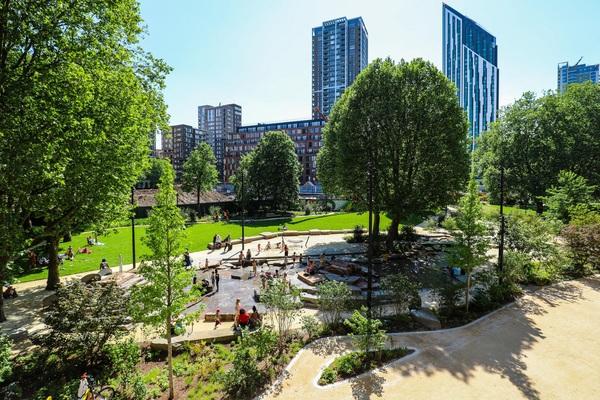 Elephant Park - a new and unique two acre park in the heart of Elephant & Castle