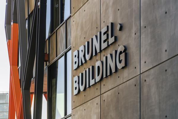 Brunel Building signage