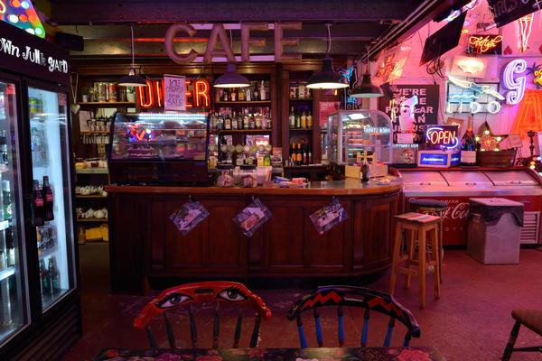 Cafe inside seating