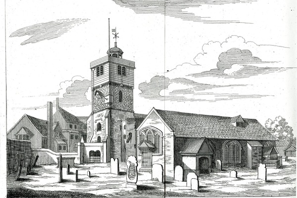 St Leonard's Shoreditch, medieval church dating approx 1185-1730