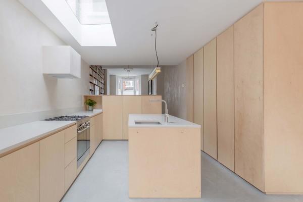 Kitchen - Plywood Kitchen + Marble Worktop