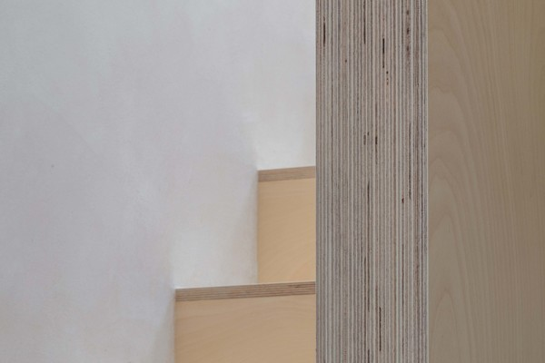 Stair Detail - Exposed Plywood End Grain