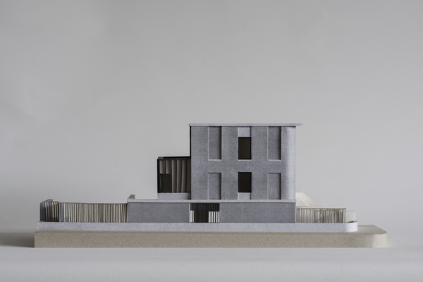 Model by 31/44 showing the proposed scheme: side elevation view