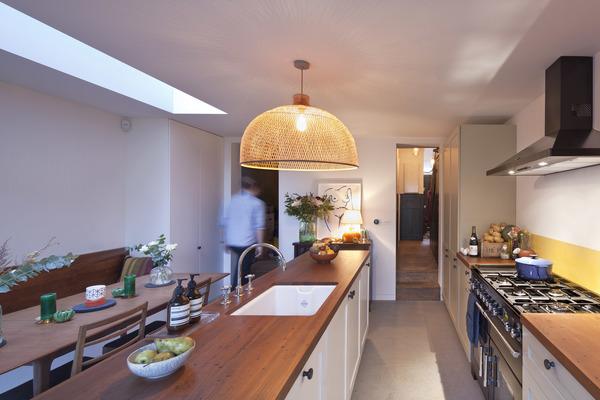 Kitchen view to hallway