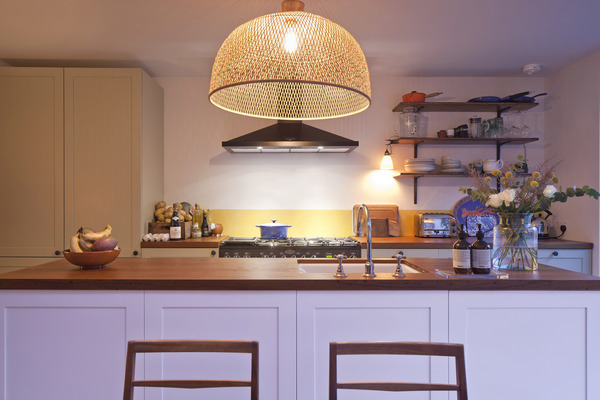 Kitchen view to island