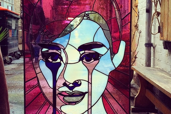 Stained Glass 'Audrey Hepburn' collaboration with Pure Evil