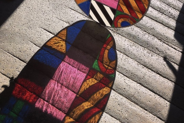 Stained Glass 'Dazzle Disc' collaboration with Sir Peter Blake