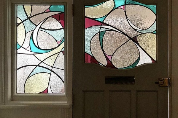 Stained Glass bespoke front door set East Finchley, London