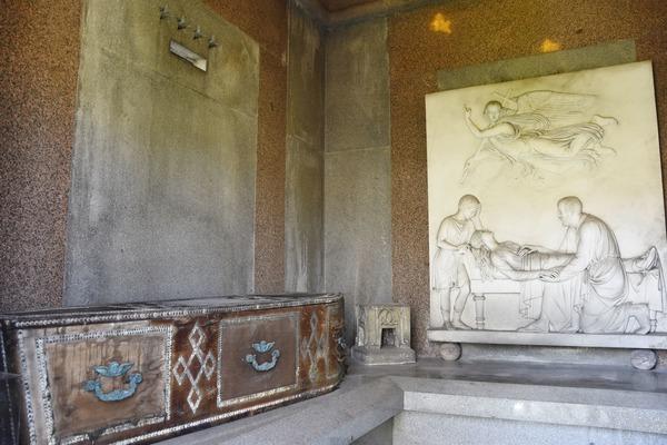 Interior of the mausoleum