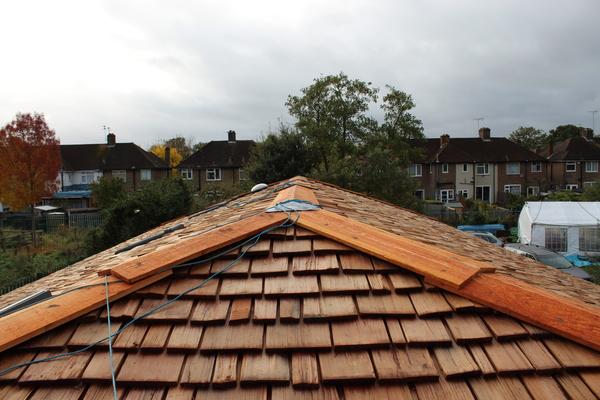 Cedar shake roofing tiles